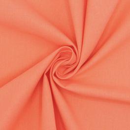 Tissu cretonne uni papaye