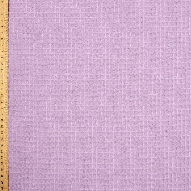 Piqué katoen met reliëfmotief van honingraat - lila