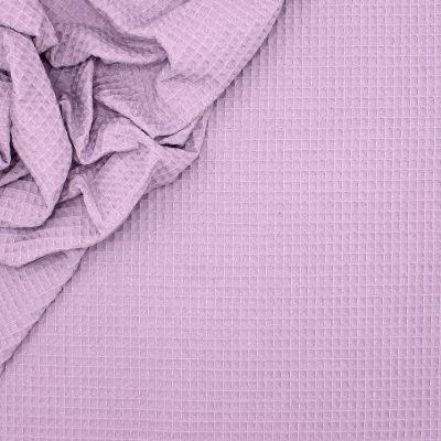 Piqué cotton with honeycomb pattern - light lila