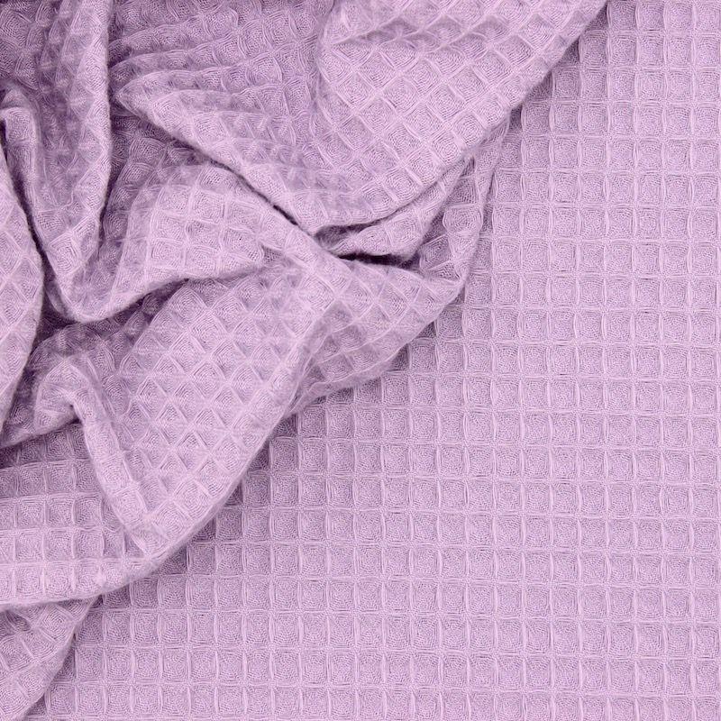 Piqué de coton gaufré nid d'abeille lilas clair