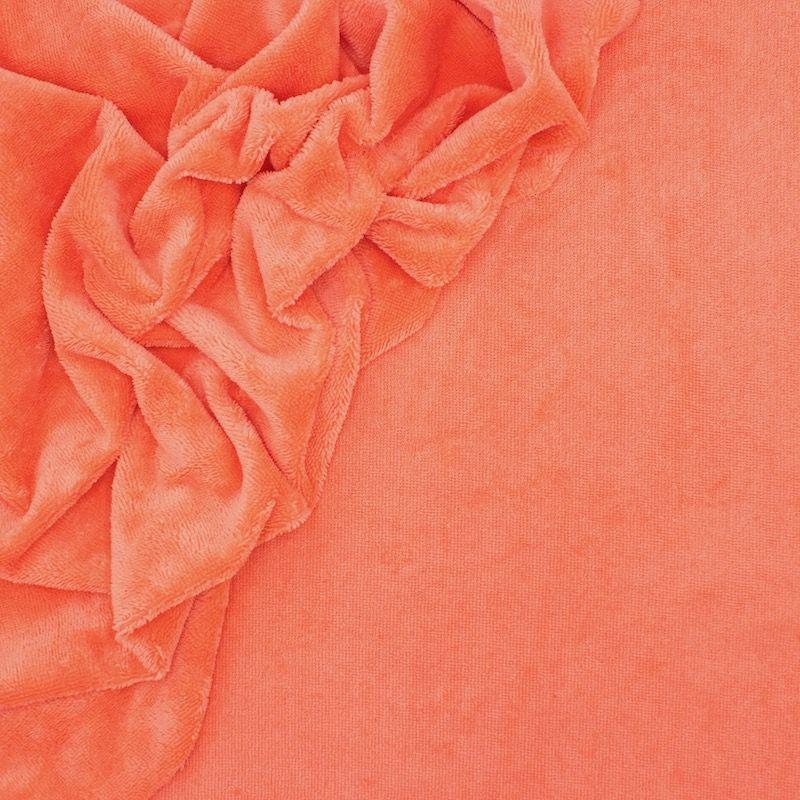Tissu éponge bambou papaye