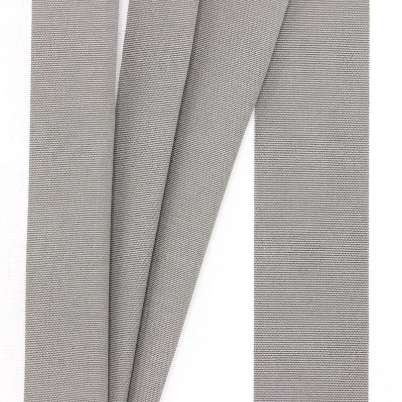 Striped outdoor fabric - grey and white