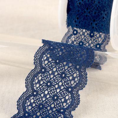 Elastische kant - marineblauw
