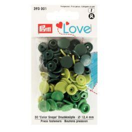 Boutons pression Prym Love vert