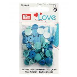 Boutons pression Prym Love bleu