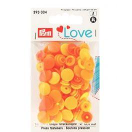 Press fastners Prym Love - yellow