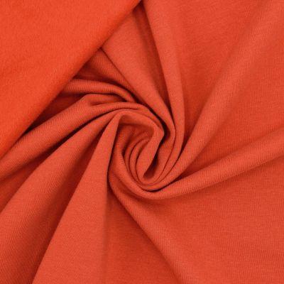 Tissu sweat molletonné - rouille