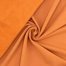 Tissu sweat molletonné - cognac