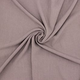 Fabric in viscose and linen - taupe
