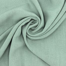 Fabric in viscose and linen - sage green