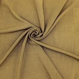 Fabric in viscose and linen - olive green