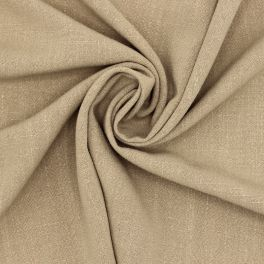 Fabric in viscose and linen - sand color