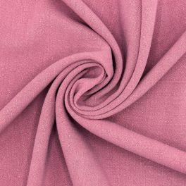 Tissu viscose et lin - rose balai