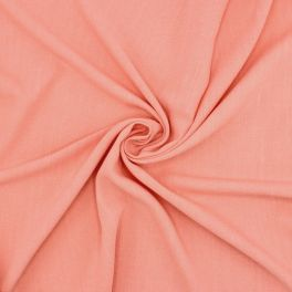 Fabric in viscose and linen - salmon pink