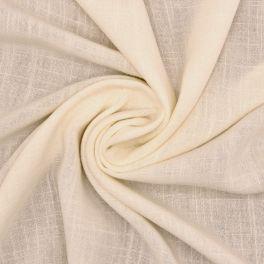 Tissu viscose et lin - écru
