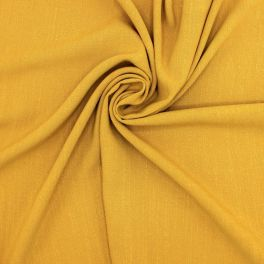 Fabric in viscose and linen - ochre