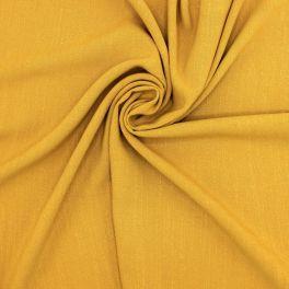 Stof in viscose en linnen - geelbruin