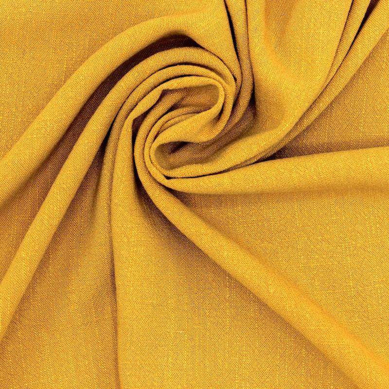 Tissu viscose et lin - ocre
