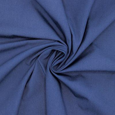 Gemerceriseerd popeline van katoen - indigoblauw