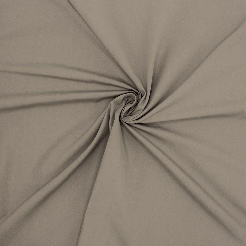 Popeline de coton mercerisé - taupe