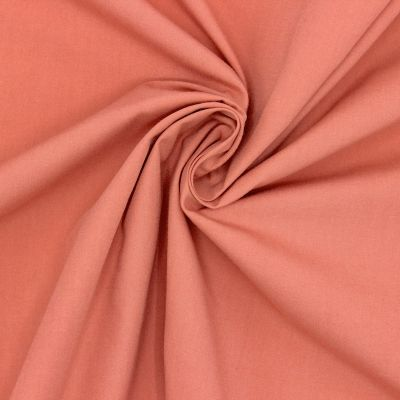 Popeline de coton mercerisé - goyave