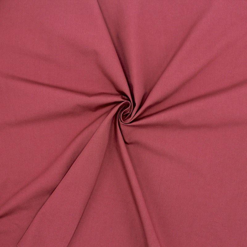 Mercerized poplin of cotton - wine red
