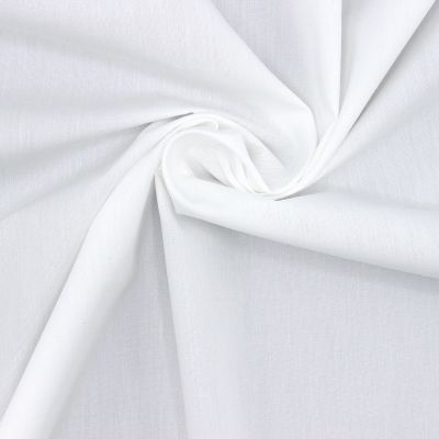 Mercerized poplin of cotton - optic white