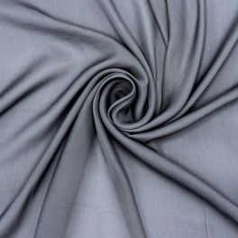 100% polyester with washed silk aspect - grey