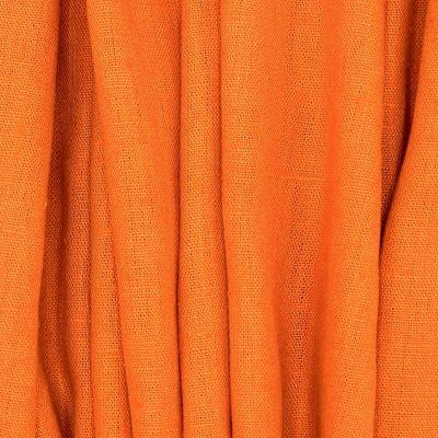 Tissu en 100% lin lavé uni orange