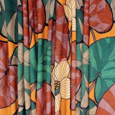 Tissu touché velours végétal - orange