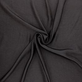 Effen polyesterstof - zwart