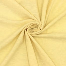 Gevlamd jerseystof - geel