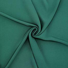 Light crêpe fabric in polyester - bottle green