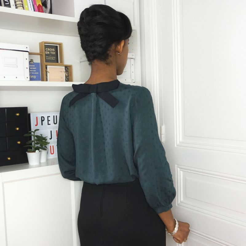 Woman's pattern blouse and dress Elena