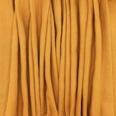 Tissu en 100% lin lavé uni ocre