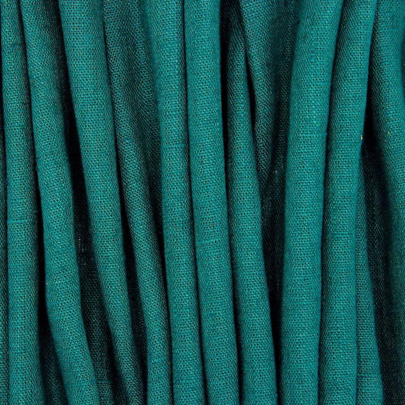 Tissu en 100% lin lavé uni vert émeraude