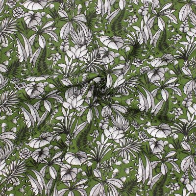 Tissu coton végétale - cactus