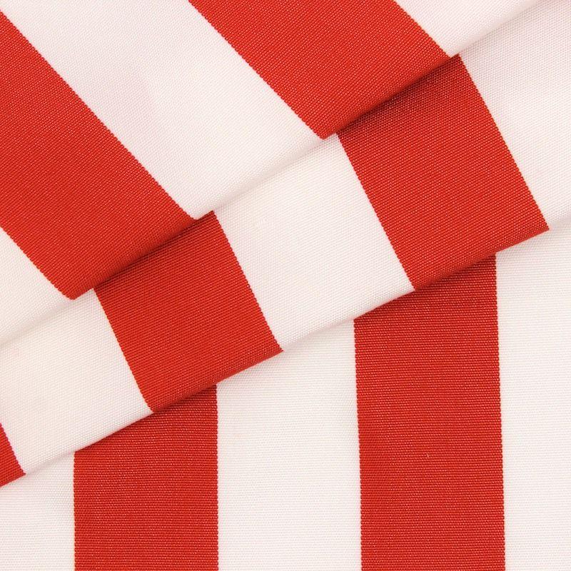Toile transat en dralon rayé rouge et blanc