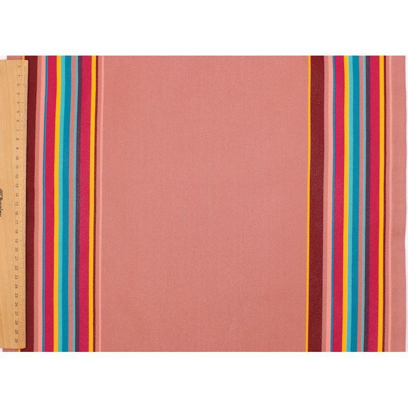 Gestreept strandstoel canvas in dralon - roos