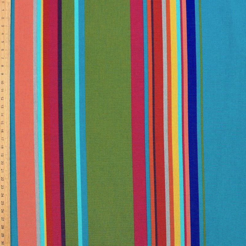 Bayadère outdoor fabric - topaz