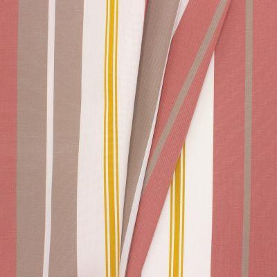 Tissu d'extérieur bayadère rose