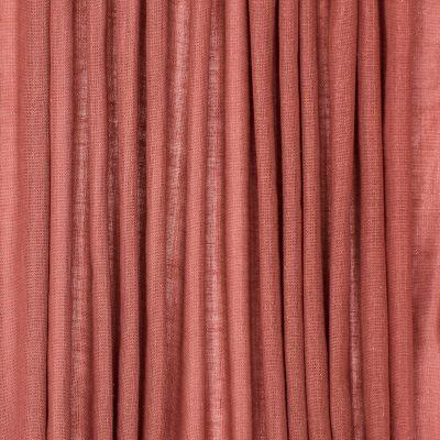 Doorzichtige sluier met linnen aspect - roestkleurig