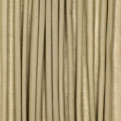 Voile transparent aspect lin pailleté - kaki clair