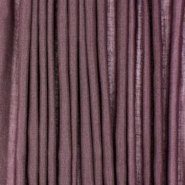 Doorzichtige sluier met linnen aspect - pruimpaars