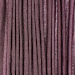 Voile transparent aspect lin pailleté - prune
