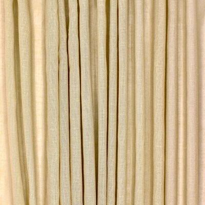 Doorzichtige sluier met linnen aspect - strogeel