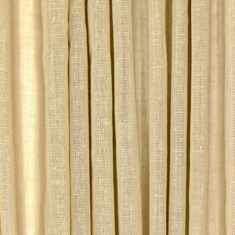 Voile transparent aspect lin pailleté - paille