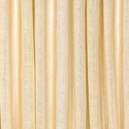 Voile transparent aspect lin pailleté - vanille