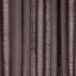 Voile transparent aspect lin pailleté - brun