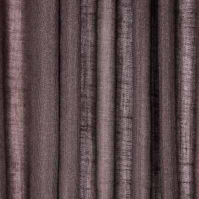 Doorzichtige sluier met linnen aspect - brown